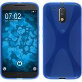 Silicone Case for Motorola Moto G4 Plus X-Style blue