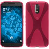 Silicone Case for Motorola Moto G4 Plus X-Style hot pink