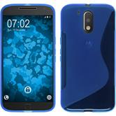 Silicone Case for Motorola Moto G4 S-Style blue