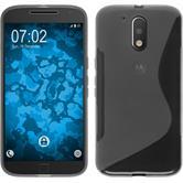 Silicone Case for Motorola Moto G4 S-Style gray