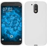 Silicone Case for Motorola Moto G4 S-Style white