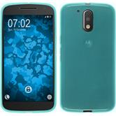 Silicone Case for Motorola Moto G4 transparent turquoise