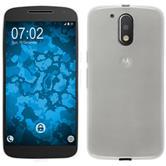 Silicone Case for Motorola Moto G4 transparent white