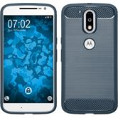 Silicone Case Moto G4 Ultimate blue