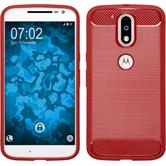 Silicone Case Moto G4 Ultimate red