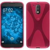 Silicone Case for Motorola Moto G4 X-Style hot pink
