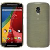 Silicone Case for Motorola Moto G 2014 2. Generation brushed gold
