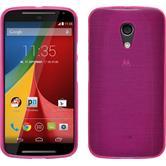 Silicone Case for Motorola Moto G 2014 2. Generation brushed hot pink