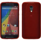 Silicone Case for Motorola Moto G 2014 2. Generation brushed red