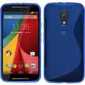 Silicone Case for Motorola Moto G 2014 2. Generation S-Style blue