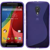 Silicone Case for Motorola Moto G 2014 2. Generation S-Style purple