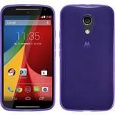 Silicone Case for Motorola Moto G 2014 2. Generation transparent purple