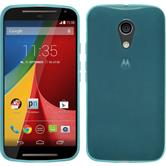 Silicone Case for Motorola Moto G 2014 2. Generation transparent turquoise
