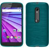 Silicone Case for Motorola Moto G 2015 3. Generation brushed blue