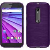 Silicone Case for Motorola Moto G 2015 3. Generation brushed purple