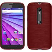 Silicone Case for Motorola Moto G 2015 3. Generation brushed red