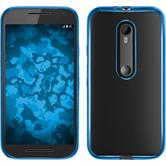 Silicone Case for Motorola Moto G 2015 3. Generation Slim Fit blue