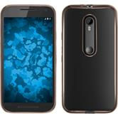 Silicone Case for Motorola Moto G 2015 3. Generation Slim Fit gold
