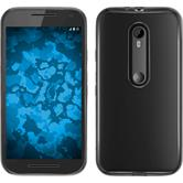 Silicone Case for Motorola Moto G 2015 3. Generation Slim Fit gray