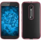 Silicone Case for Motorola Moto G 2015 3. Generation Slim Fit hot pink