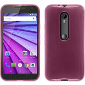 Silicone Case for Motorola Moto G 2015 3. Generation transparent pink
