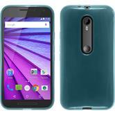 Silicone Case for Motorola Moto G 2015 3. Generation transparent turquoise