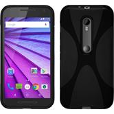 Silicone Case for Motorola Moto G 2015 3. Generation X-Style black