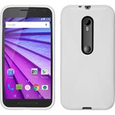 Silicone Case for Motorola Moto G 2015 3. Generation X-Style white