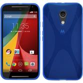 Silicone Case for Motorola Moto G 2014 2. Generation X-Style blue