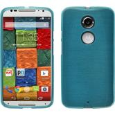 Silicone Case for Motorola Moto X 2014 2. Generation brushed blue