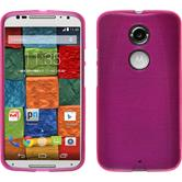 Silicone Case for Motorola Moto X 2014 2. Generation brushed hot pink