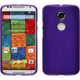 Silicone Case for Motorola Moto X 2014 2. Generation brushed purple