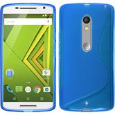 Silicone Case for Motorola Moto X Play S-Style blue