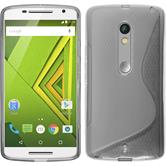 Silicone Case for Motorola Moto X Play S-Style gray