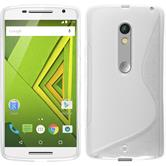 Silicone Case for Motorola Moto X Play S-Style transparent