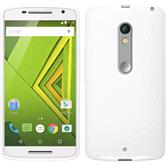 Silicone Case for Motorola Moto X Play S-Style white