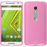 Silicone Case for Motorola Moto X Play transparent pink