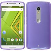 Silicone Case for Motorola Moto X Play transparent purple