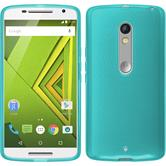 Silicone Case for Motorola Moto X Play transparent turquoise