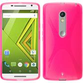 Silicone Case for Motorola Moto X Play X-Style hot pink