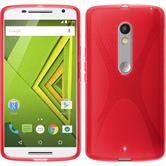 Silicone Case for Motorola Moto X Play X-Style red