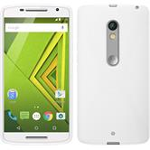 Silicone Case for Motorola Moto X Play X-Style white