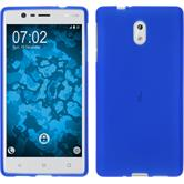 Silicone Case for Nokia 3 matt blue