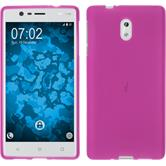 Silicone Case for Nokia 3 matt hot pink