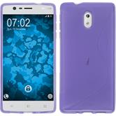 Silicone Case for Nokia 3 S-Style purple