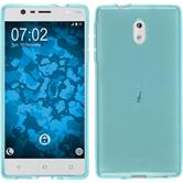 Silicone Case for Nokia 3 transparent turquoise