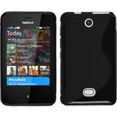 Silicone Case for Nokia Asha 501 S-Style black