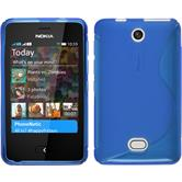 Silicone Case for Nokia Asha 501 S-Style blue