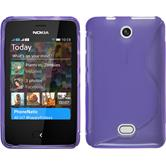 Silicone Case for Nokia Asha 501 S-Style purple