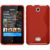 Silicone Case for Nokia Asha 501 S-Style red
